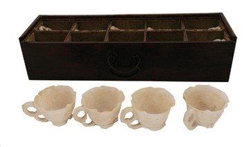 1521: Rare set of ten Chi soapstone libation cups