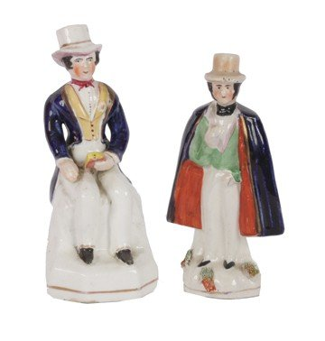 5: Two nineteenth-century Staffordshire pottery figures