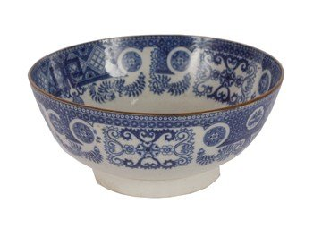 8: English early nineteenth-century blue and white tran
