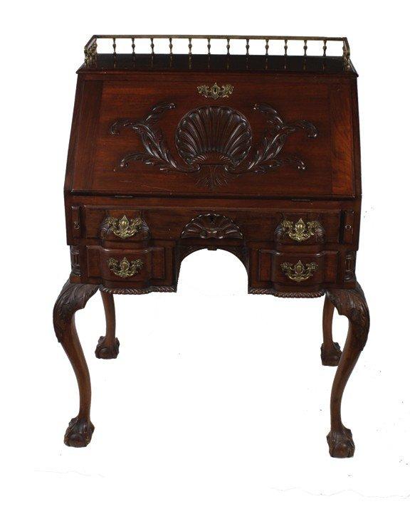 9: Irish Edwardian period mahogany writing bureau
