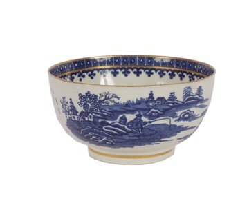 10: Nineteenth-century Worcester blue and white bowl,