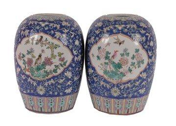 11: Pair of early twentieth-century Chinese polychrome