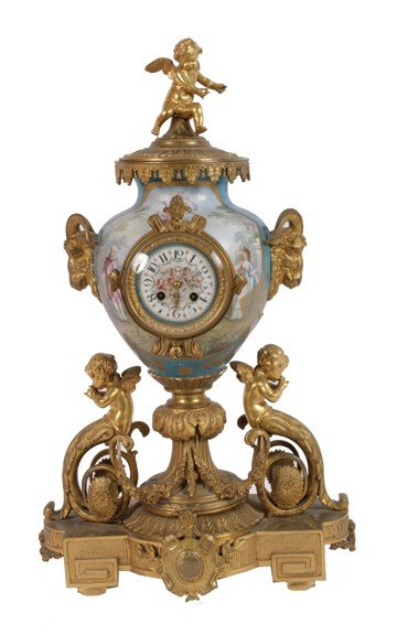 12: Nineteenth-century French ormolu and Sevres porcela