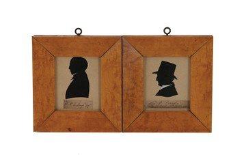 17: Pair of Regency miniature silhouettes