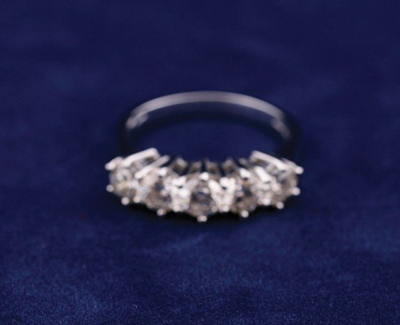 18 ct. white gold half eternity ring