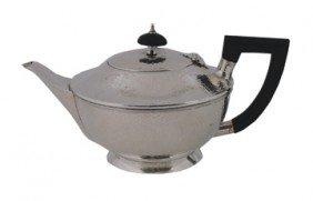 Cork Art Deco Silver Teapot