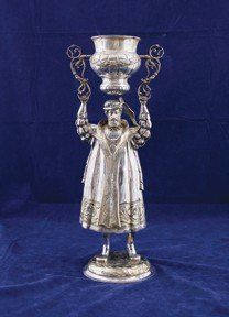 Late nineteenth-century German sterling silver wager cu