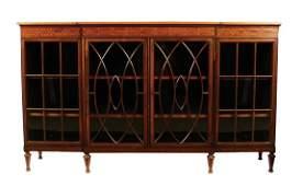 George III style mahogany and satinwood cross banded ci