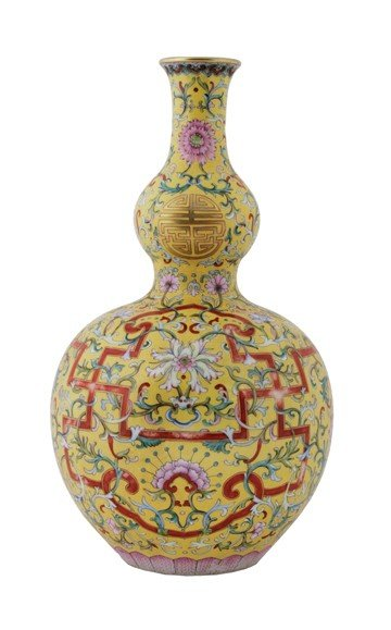Chinese polychrome vase