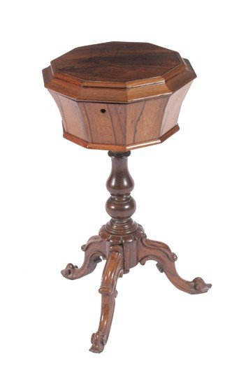 Victorian period rosewood teapoy