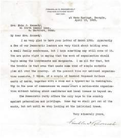 Roosevelt, Franklin D.  Typed letter