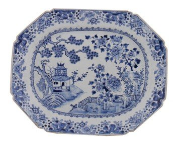 Large eighteenth-century Nanking blue and white platter