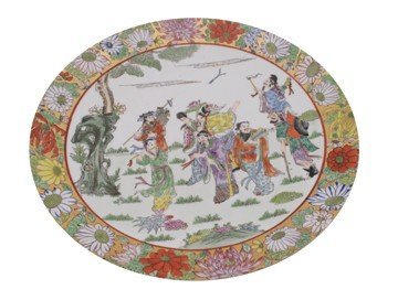 Chinese polychrome plate