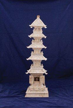 Large Chinese five tier stupa