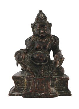 Early Chinese bronze figure