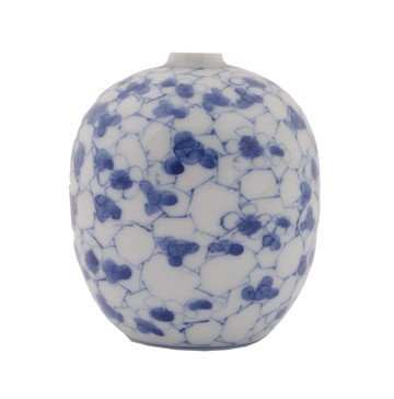 Small Chinese blue and white vase signed