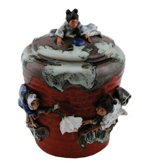 Late nineteenth-century Japanese figural ginger jar and
