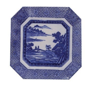 Japanese Meiji blue and white Fukugawa Arita porcelain