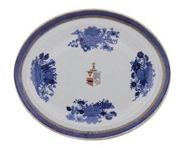 Large Chinese porcelain armorial Fitzhugh platter