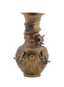 Nineteenth-century Chinese brass baluster vase