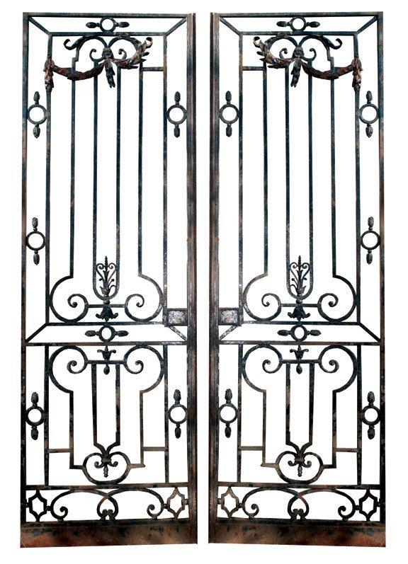 1: Pair of French nineteenth-century cast iron gates