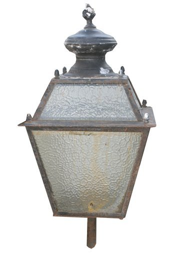 3: Pair of 1920's external tapered lights with brackets