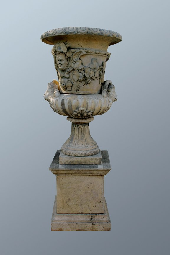 6: French Baroque vase on plinth