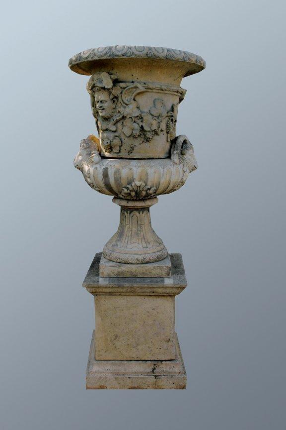 6: French Baroque vase on plinth