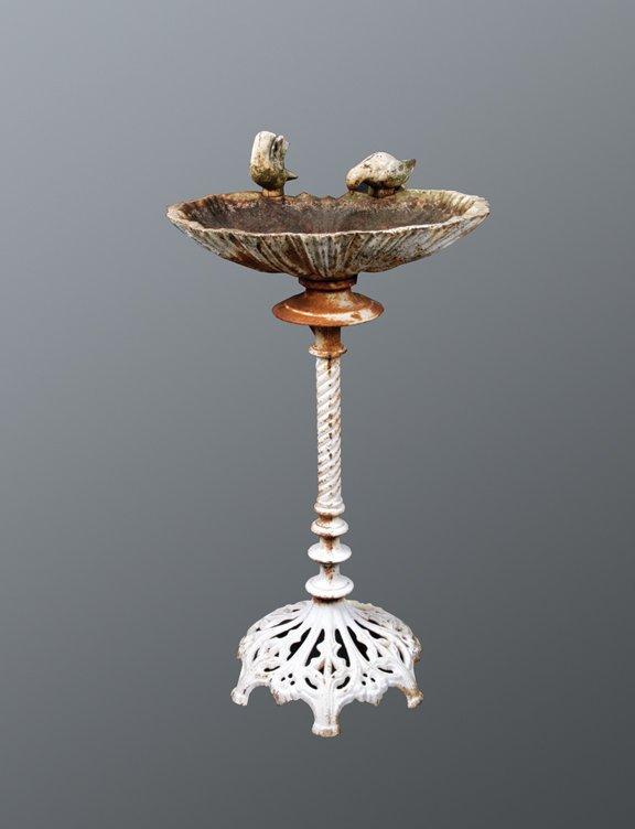 10: Victorian cast iron bird bath