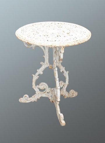 12: Victorian cast iron patio table