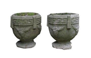 23: Pair of nineteenth-century composite stone neoclass