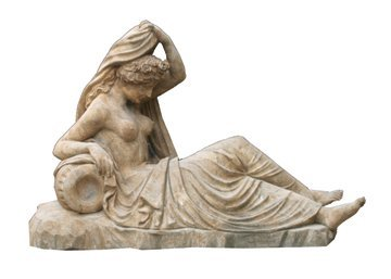 28: Large stone sculpture of a classical figure