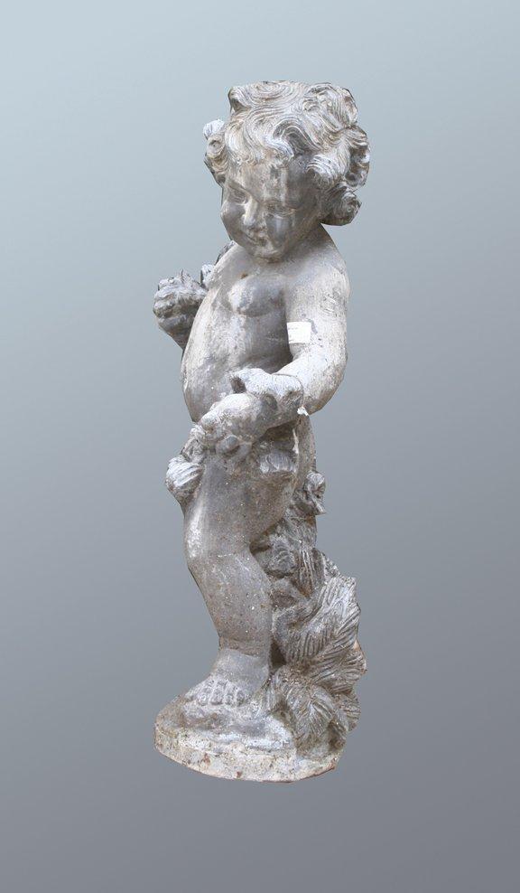 29: Nineteenth-century lead figure of a cherub