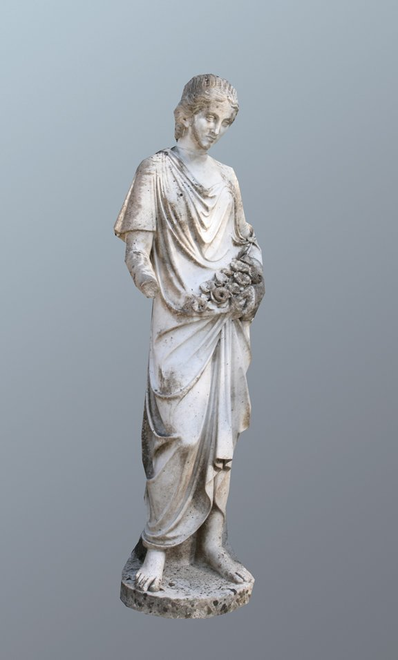 32: Nineteenth-century marble figure of a young woman h