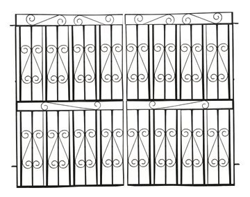 38: Pair of wrought iron garden gates