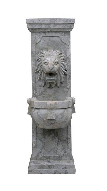 47: Carved cut stone pedestal fountain