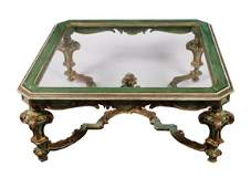 551 Large enamelled and parcel gilt rococo coffee tabl