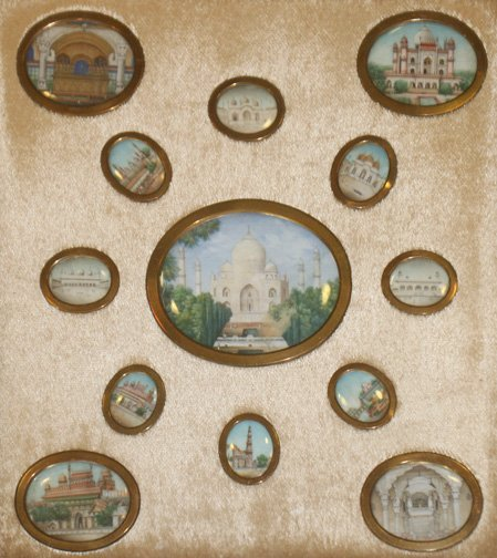 558:19th century Indian School 14 miniatures on ivory