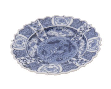 626: Pair of Japanese blue and white dishes