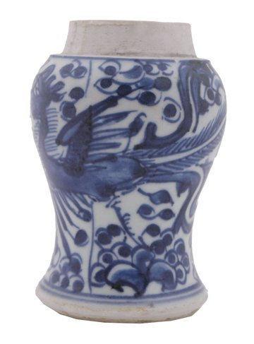 627: Seventeenth-century Chinese blue and white vase