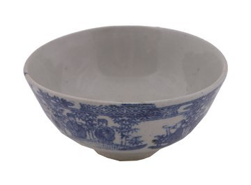 673: Chinese eighteenth-century blue and white rice bow