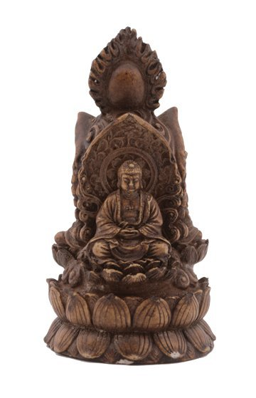 680: Chinese composite Buddha shrine on a lotus bed