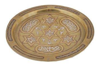 686: Islamic Cairo ware Damascus Mamluk silver copper a