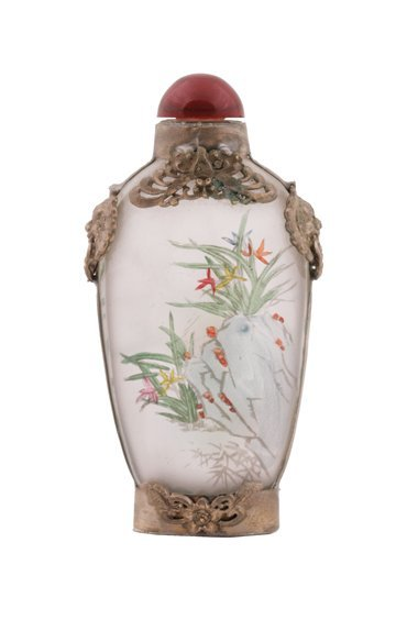 688: Chinese old glass snuff bottle