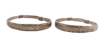 705: Two Chinese silver bangles