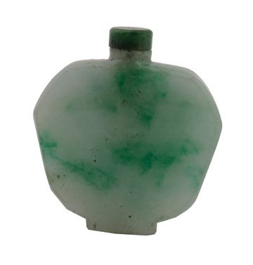 712: Qing dynasty jade snuff bottle and stopper