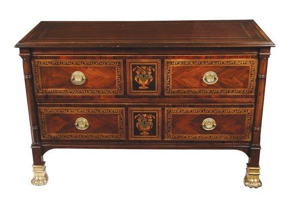 1013: Antique Italian marquetry chest