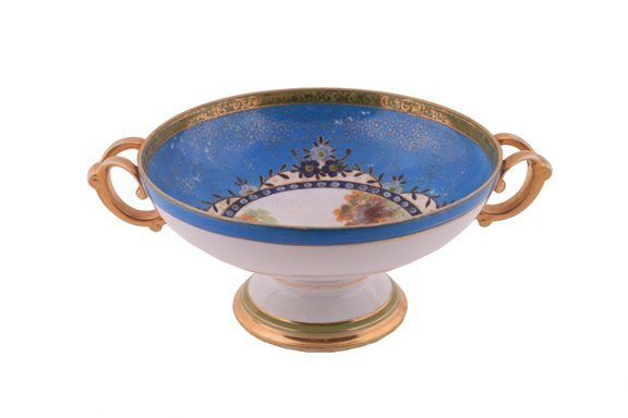 6: Victorian painted fruit bowl
