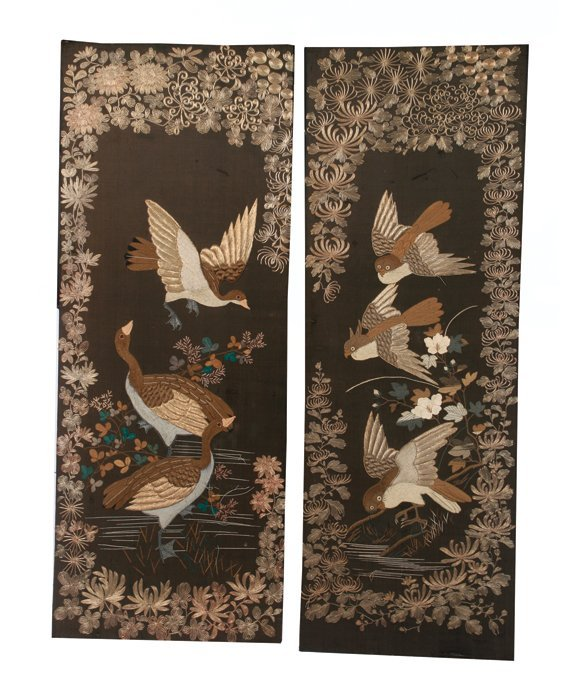 15: Pair of large nineteenth-century Oriental embroider