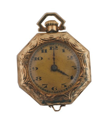 13: 14 ct. gold pocket watch by Liberty